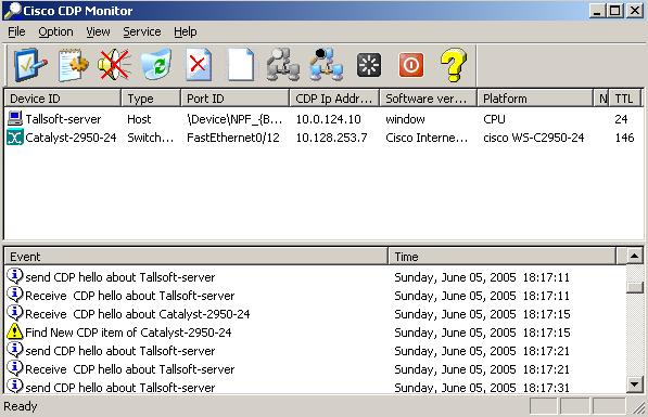 Click to view Cisco CDP Monitor 3.2 screenshot