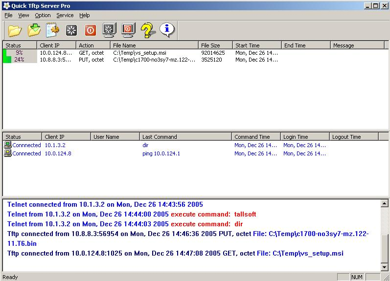 Quick Tftp Server Pro Screen shot